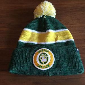 Celtics Winter Pom Hat